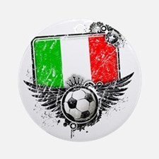 Soccer fan Italy Round Ornament