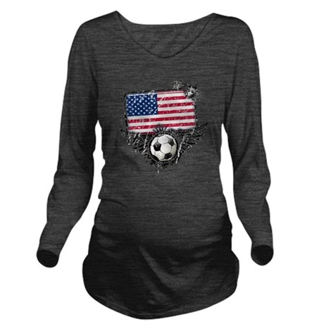 Soccer fans USA Long Sleeve Maternity T-Shirt