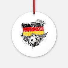 Soccer fan Germany Round Ornament