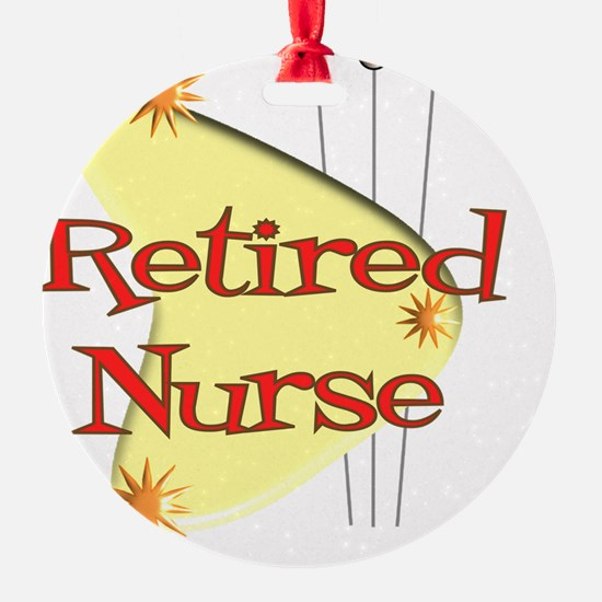 Retired Nurse Retro Ornament