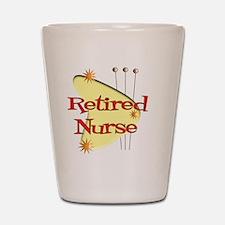 Retired Nurse Retro Shot Glass