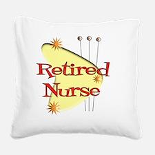 Retired Nurse Retro Square Canvas Pillow