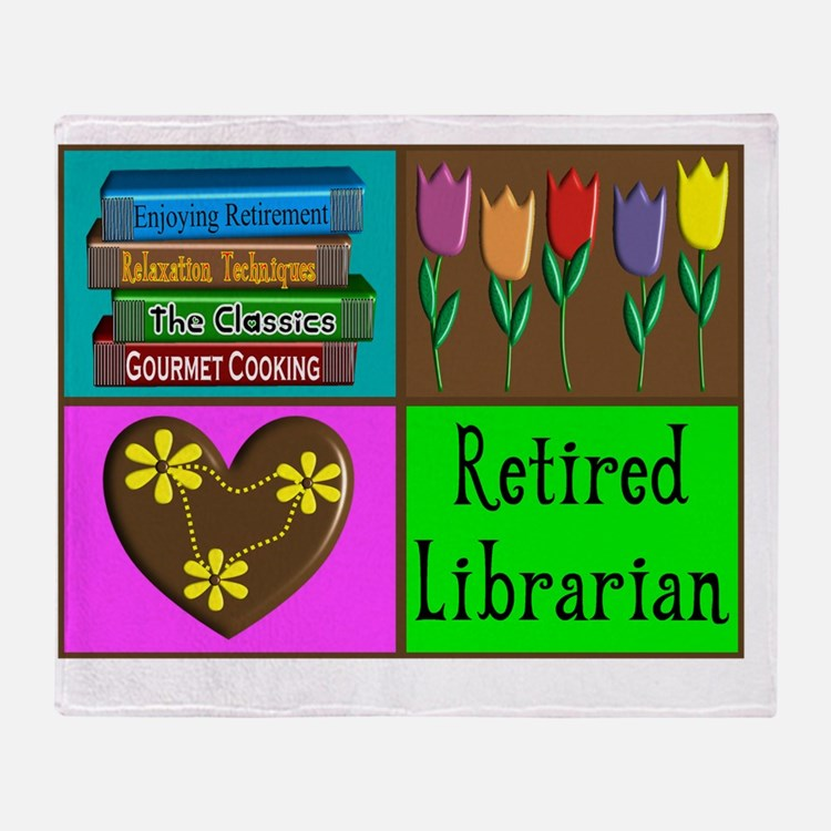 Retired Librarian Throw Blanket