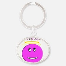 First Communion Day Oval Keychain