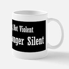 No Longer Silent Bumper Sticker Mug
