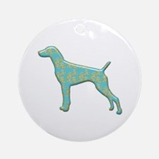 Paisley Pointer Ornament (Round)