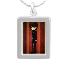 twilight_Alec_volturi Silver Portrait Necklace