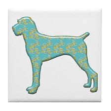 Paisley Pointer Tile Coaster