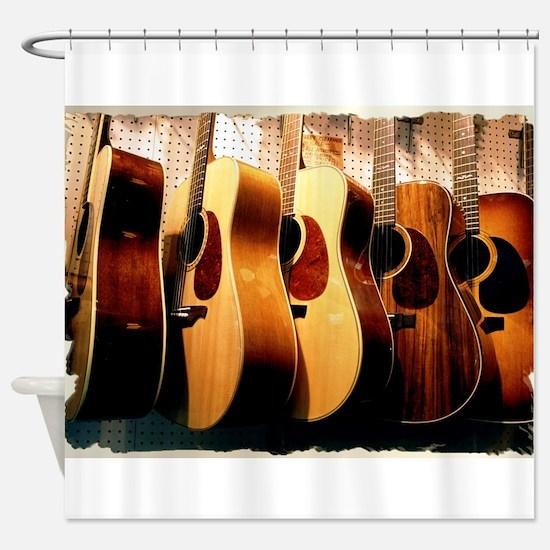 Guitars Shower Curtain