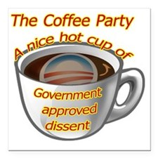 "coffeeparty copy Square Car Magnet 3"" x 3"""