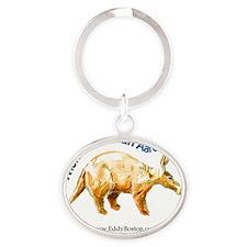 Aardvark t-shirt Oval Keychain