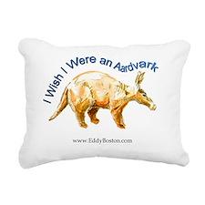 Aardvark t-shirt Rectangular Canvas Pillow