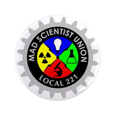"""mad_scientist_union_logo_dark 3.5"""" Button"""