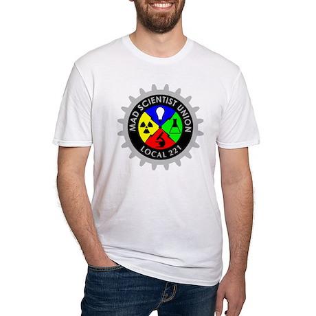 mad_scientist_union_logo_dark Fitted T-Shirt