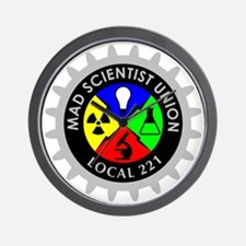 mad_scientist_union_logo_dark Wall Clock