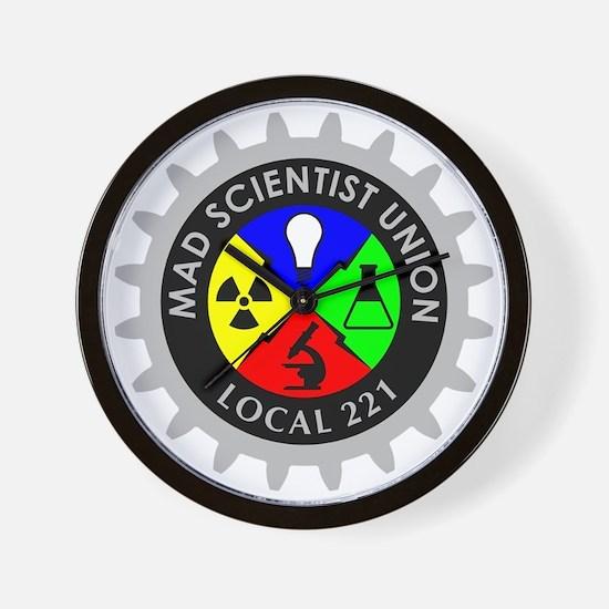 mad_scientist_union_logo_dark Wall Clock