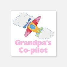 """copilot girl Square Sticker 3"""" x 3"""""""