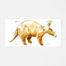 aardvark big Aluminum License Plate