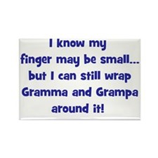 gramma_grampa_wrappedaroundfinger Rectangle Magnet