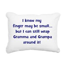 gramma_grampa_wrappedaro Rectangular Canvas Pillow
