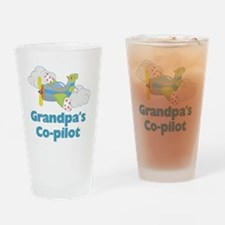 grandpas copilot Drinking Glass
