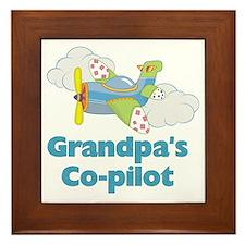 grandpas copilot Framed Tile