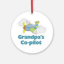 grandpas copilot Round Ornament