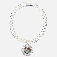Pup Orange and White Tra Bracelet
