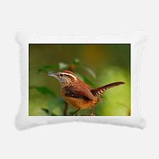 Carolina Wren DSC_0103 1 Rectangular Canvas Pillow