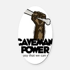 cavemanpower Oval Car Magnet