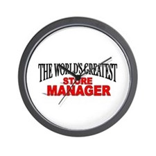 """""""The World's Greatest Store Manager"""" Wall Clock"""