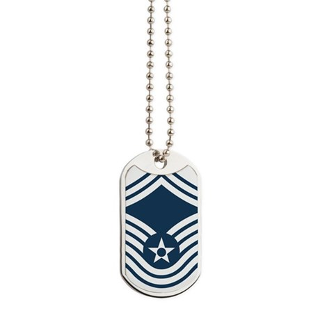 USAF-CMSgt-Old-Blue-4-Inches Dog Tags
