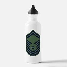 USAF-CMSgt-Old-Green-P Water Bottle