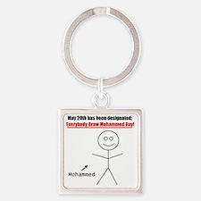 mohammedday01 Square Keychain