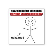 "mohammedday01 Square Sticker 3"" x 3"""