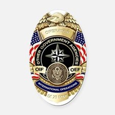 OGA Badge Oval Car Magnet