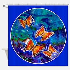 Wax Relief Butterflies 69X70 Shower Curtain