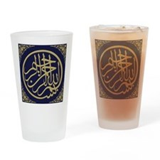 bism_gold_filla_on_blue_lg2_10_0 Drinking Glass
