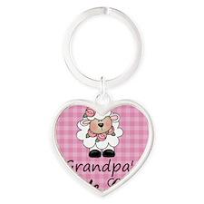 little lamb girl Heart Keychain