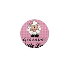 little lamb girl Mini Button