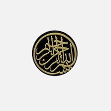 bism_gold_filla_on_black_lg2 Mini Button