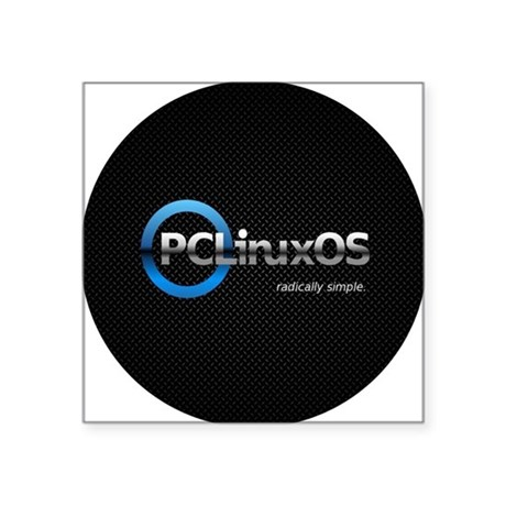 "PCLinuxOS Square Sticker 3"" x 3"""