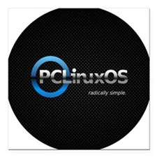 "PCLinuxOS Square Car Magnet 3"" x 3"""