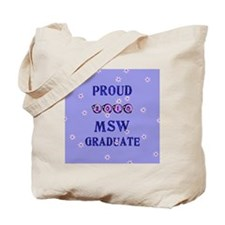 2-2010 msw graduate background Tote Bag