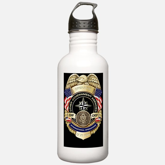 2-OGA Badge Sticker Sports Water Bottle