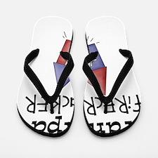 grandpas firecracker Flip Flops