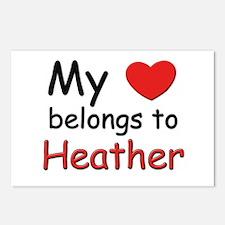 My heart belongs to heather Postcards (Package of