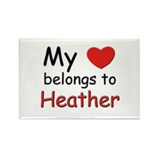 My heart belongs to heather Rectangle Magnet