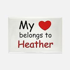 My heart belongs to heather Rectangle Magnet