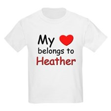 My heart belongs to heather Kids T-Shirt